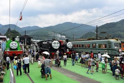 トーマスファミリーだけでなく、懐かしの昭和電車も楽しみ