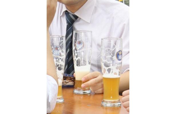 サラリーマンも、いつもとは違うオシャレなドイツビールで乾杯!