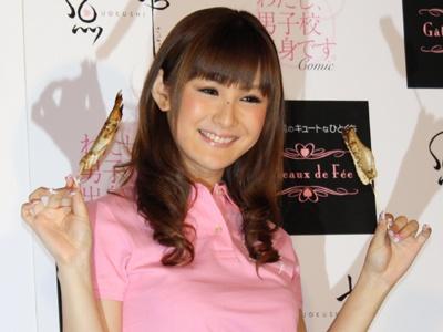 明るい笑顔で報道陣の呼びかけにも応えてくれた椿姫彩菜ちゃんの優しさに感謝!