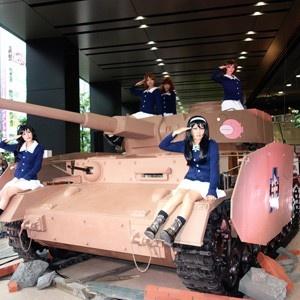 「ガルパン」西住殿たちが乗る戦車が秋葉原に上陸!