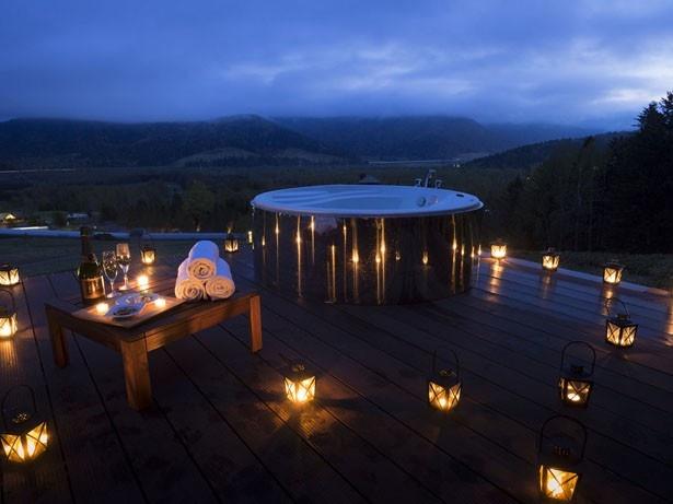 この秋、期間限定で登場する「お月見雲海露天風呂」