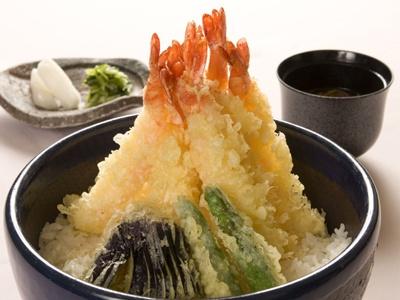大海老7尾&ご飯3倍の「極盛り!海老天丼」【ほか極盛メニュー画像】