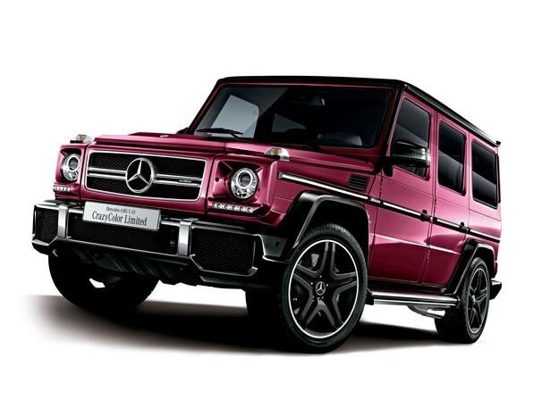 11台限定販売される「Mercedes-AMG G 63 CrazyColor Limited」の(2220万円)ギャラクティックビーム(メタリックペイント)仕上げ