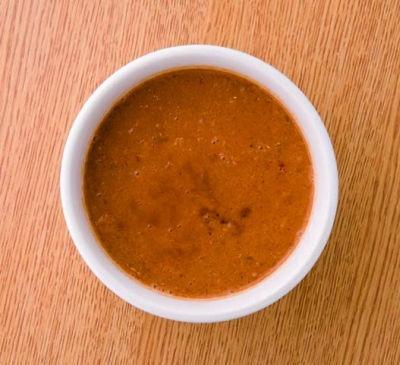 「みそつけ麺キムチ風味」のスープは、数種類の味噌を特製ブレンド!