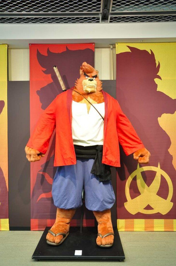 等身大の熊徹も登場。デカさに圧倒される 等身大の熊徹も登場。デカさに圧倒される おでかけ 大丸梅