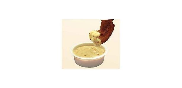 【食べ方・その3】混ぜると、なめらかソースに変身。ドーナツにディップが楽しい!