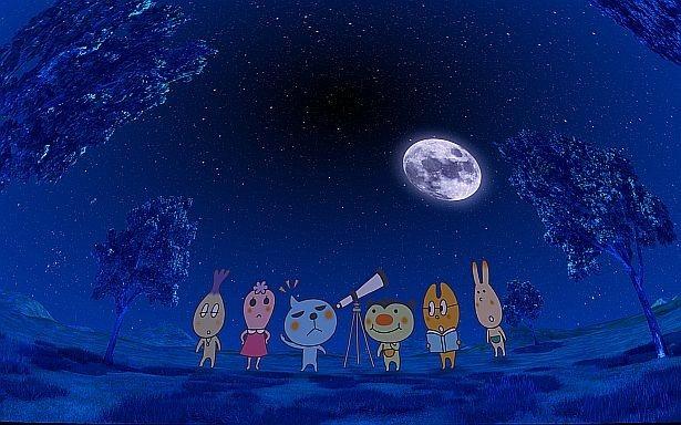 【写真を見る】「Qoo プラネタリウム」は、Qooが宇宙を冒険するストーリー仕立てのプラネタリウム!