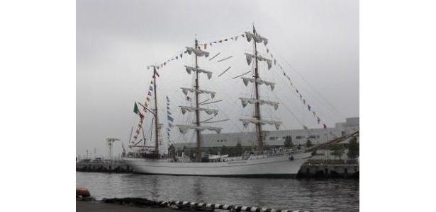 白い船体がキレイ!