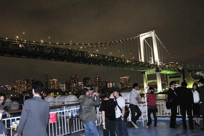 テンションは絶好調!東京の夜景を満喫できる