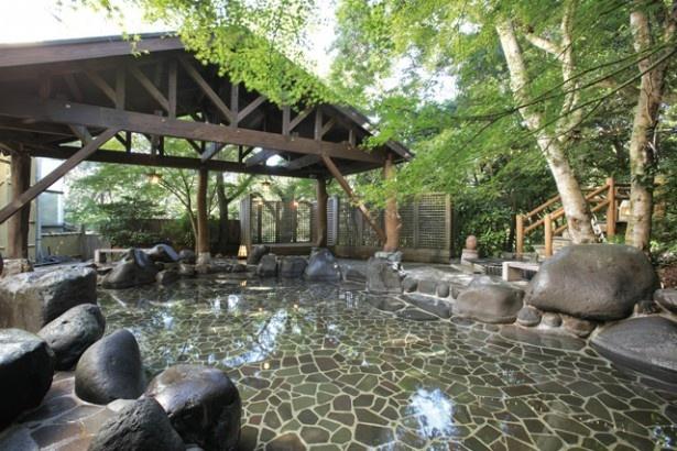 久山温泉 ホテル夢家には、薬湯やよもぎサウナなど、個性豊かな湯舟が男女合わせて12種22風呂ある