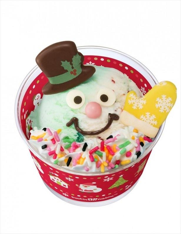 大人気の「ハッピードール(全6種)」(400円~)からは、雪の国の人気者「スノーマン」が新登場!