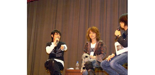 仙台市の高校でラジオの公開収録を行っているVAMPS
