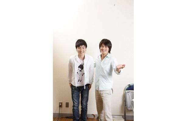 7/8(水)にDVDを発売するジャルジャルの後藤(左)と福徳