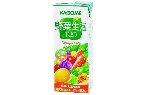 健康に気をつかう人は「野菜生活 100」を(100円)