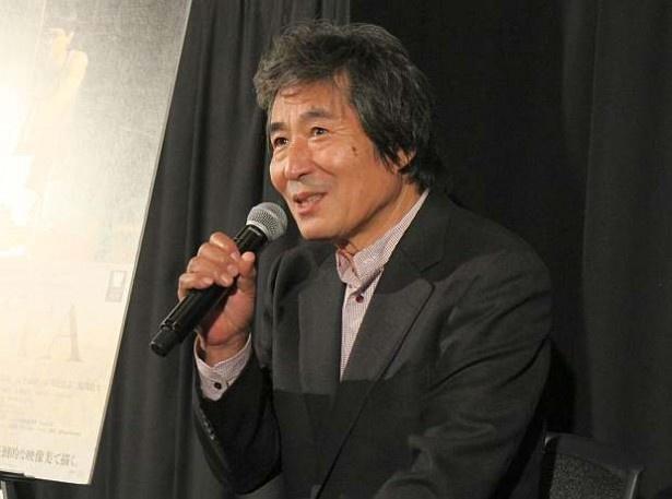第28回東京国際映画祭のコンペティション部門出品作『FOUJITA』(11月14日公開)のティーチインに出席した小栗康平監督