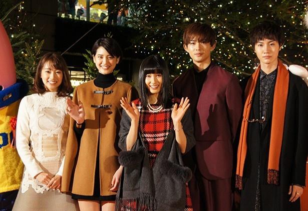 東京タワーで行われたイルミネーション点灯式に土屋太鳳ら映画『orange -オレンジ-』のキャストが登場