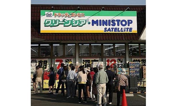 オープン時は列ができたグリーンシア・ミニストップサテライト本庄朝日町店