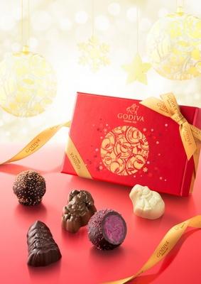 ベルギーの高級チョコ、ゴディバのクリスマス限定コレクション「ノエル ルミヌ コレクション」。特別仕様のフレーバーや華やかなパッケージに心も華やぐ