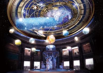 メイン会場の噴水広場は「VENUS STAR ZONE」となり、星座盤モチーフの映像が天井に映し出される※画像はイメージ
