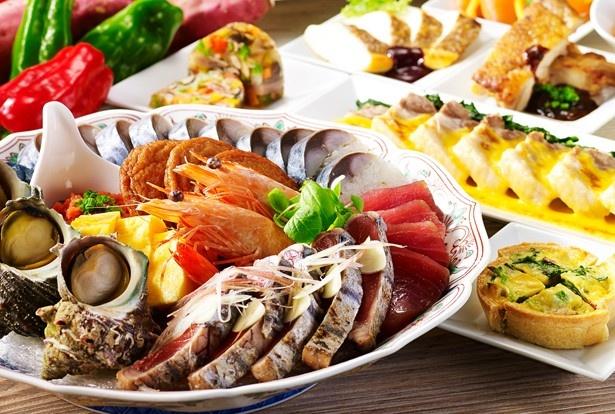 カツオのたたきなど高知県の美食が勢ぞろい