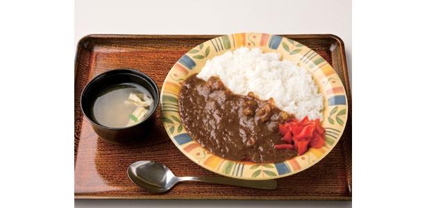 国立国会図書館と新宿中村屋とのコラボメニュー「スパイシーカレー」はみそ汁もついて500円!