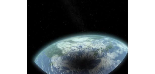 地上の月の影はこんな感じ