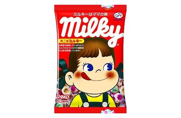 子供はもちろん、幅広い世代に人気! 「ミルキー」(210円)