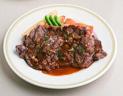 「Mr.スタンステーキ」(ライス付/1380円)は和風ソースとステーキの味が絶妙