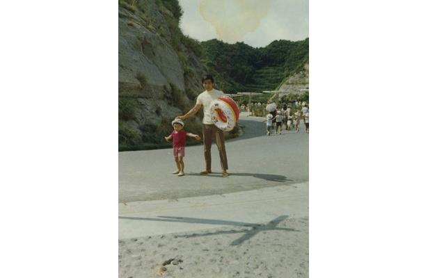 保育園に通っていた頃。お父さんと