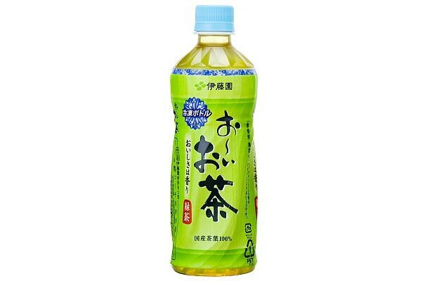 冷凍ボトル お〜いお茶 緑茶 (485ml158円)