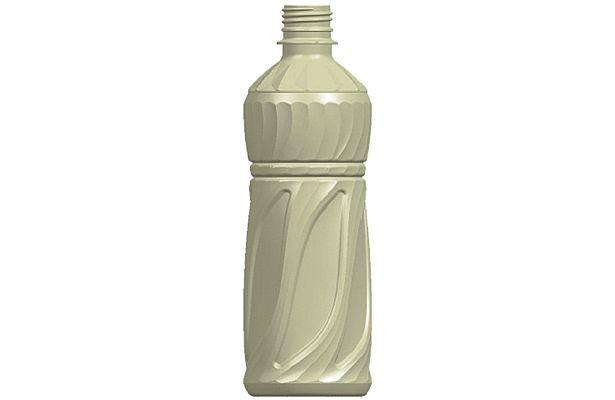 【詳細なボトルの形状画像】らせん状に凹凸が入った伊藤園の冷凍ボトル