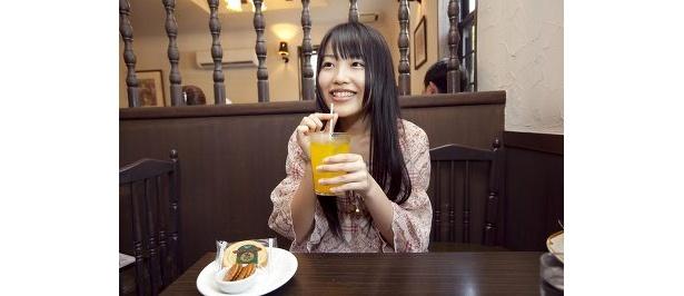 ジュースおいしい〜普通のオレンジでよかった(笑)