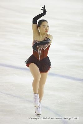 東日本選手権での樋口新葉のフリー演技。ミスはあったものの手堅くリカバーし、逆転優勝を果たした
