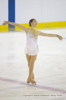 東日本選手権での青木祐奈のショートプログラム。この日は最高の演技だった