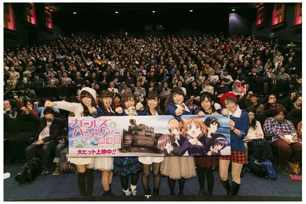 「ガルパン」あんこうチームが劇場版の公開を祝福!