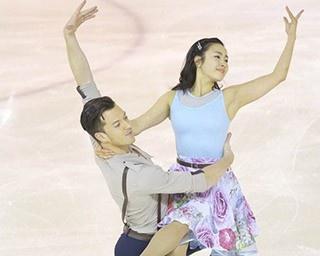 注目のアイスペア、平井絵己(写真左)&マリオン・デ・ラ・アソンション(同右)組
