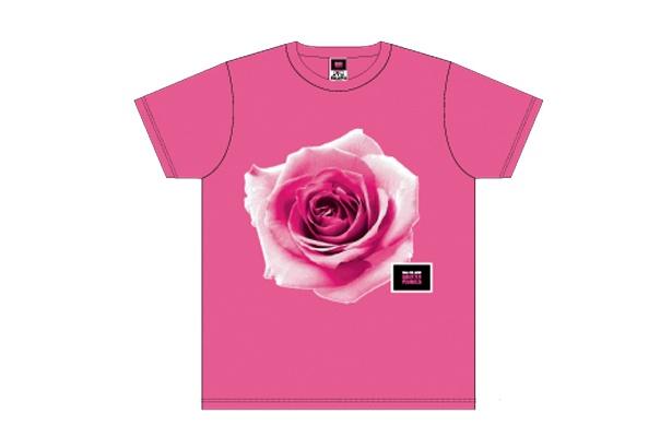 イベントのテーマでもある「バラ色」をモチーフにしたTシャツ
