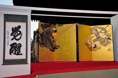 横154.5cm、縦169.8cmの「風神雷神屏風」は12月8日(火)から清水寺で展示される