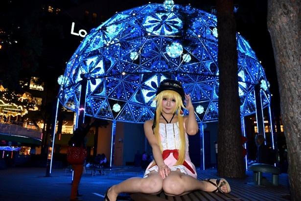 コスプレ美女×クリスマスイルミ!厳選画像20連発