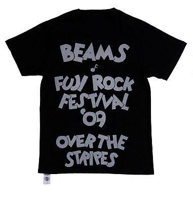 「OVER THE STRiPES×BEAMSのミッキーマウスTシャツ」(BLACK・裏)