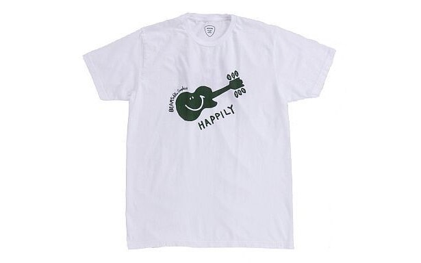 「Palm Graphics×BEAMSのHappily Tシャツ」(WHITE・表)