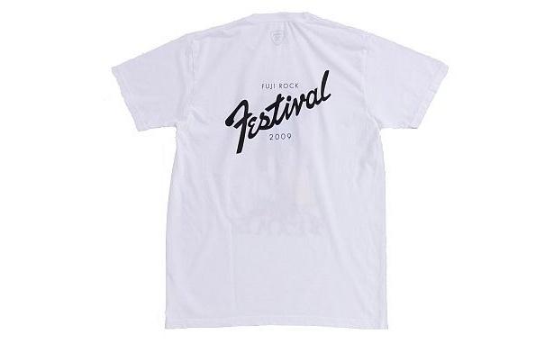 「Palm Graphics×BEAMSのFlower Guitar Tシャツ」(WHITE・裏)
