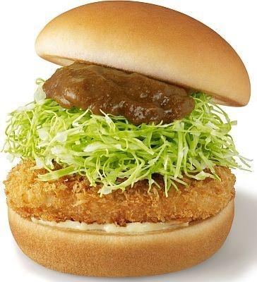 カレーチキンバーガー(250円)