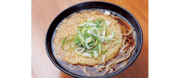 一番人気はコレ!「自家製麺の天ぷらそば」290円