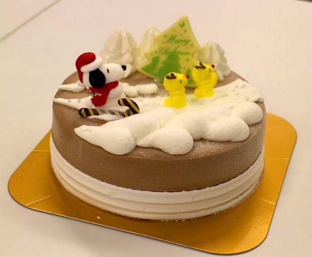 サーティワンのアイスクリームケーキ「スヌーピー&ウッドストック クリスマスフライト」(3200円~)