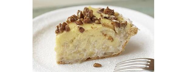 バナナクリームパイほかのパイより甘めに味付けし、 ボリュームたっぷり。本場アメリカ仕込みのメニュー