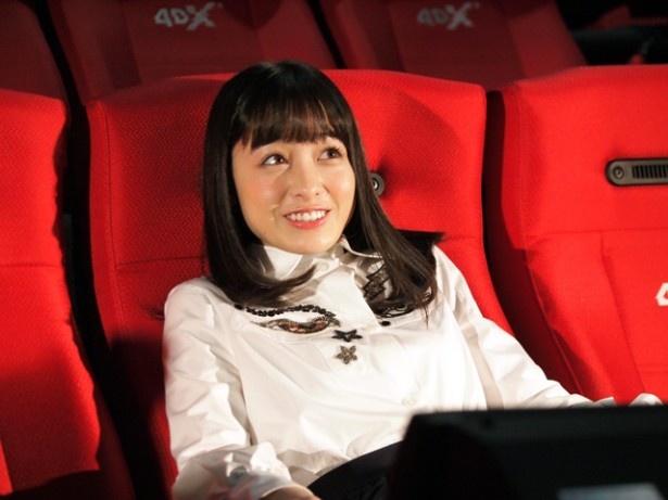 映像の動きによって、座席も揺れるので、リアルな体験が可能に。映画の世界に、より入り込むことができる