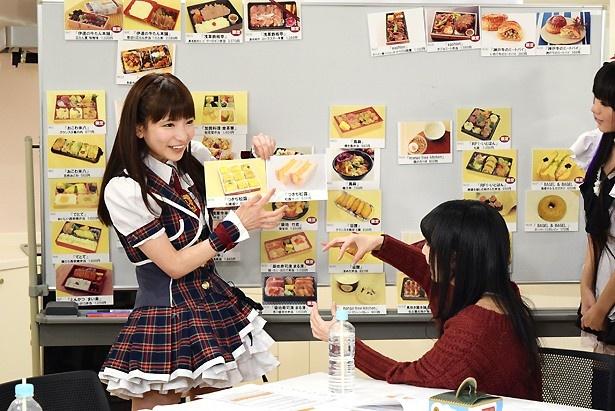 つきぢ松露の「松露サンド」(648円)の魅力を語るもえのあずき