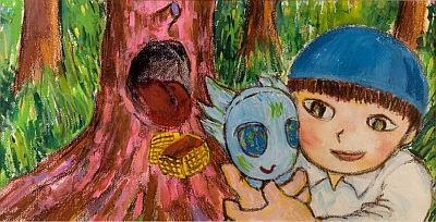絵本「ブーアの森」の原画も公開(2002年)