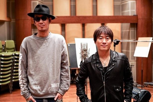 テレビ東京の主題歌は初となるコブクロの二人。写真左から、黒田俊介と小渕健太郎